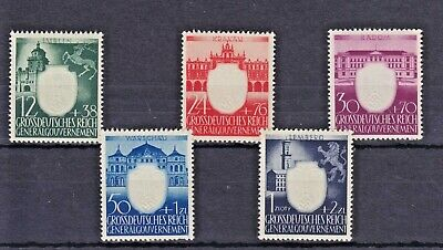 1943 German Occupation Poland: Nazi Party , Set of 5 , MNH SG460-464