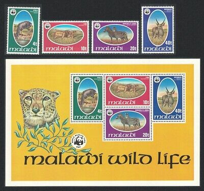 Malawi WWF Endangered species 4v+MS MNH SG#567-MS571 SC#319-322 MI#297-300