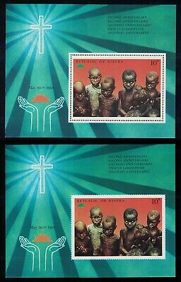Biafra 2nd Anniversary of Independence 2 MSs perf and imperf MNH SG#MS38a