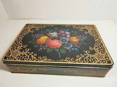 VTG Collectible Tin Box Confections Candy Barringer Wallis and Manners  Flowers