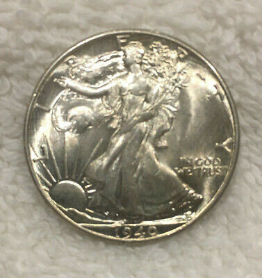"1940  Walking Liberty Half Dollar "" Beautiful "" - nice cartwheel luster-BU"