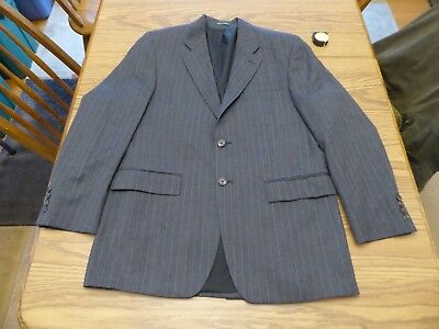 38R Ralph Lauren Men's 2 Button Sport Coat Lambs Wool Blazer Jacket Pin Striped