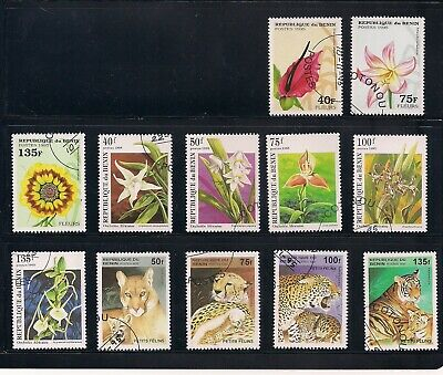 Benin 172 used different stamps lot 1995-2003
