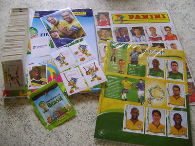 Panini Wc Brazil 2014 Hard Cover  Album Complete Set Stickers + Extras + Update