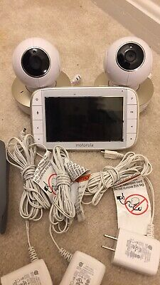 """Motorola 5"""" Portable Video Baby Monitor with Two Cameras -White(MBP36XL-2)"""