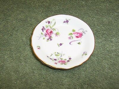 Royal Chelsea Tea Bag or Trinket Dish, English Bone China 3 3/8""