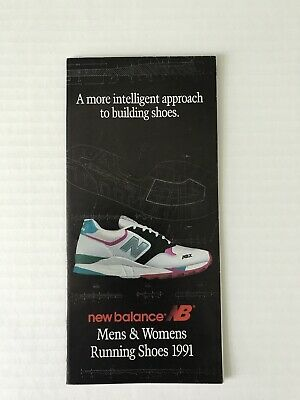 New Balance Running Shoes 1991 Fold Out Brochure