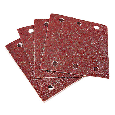 Punched Hook & Loop Sanding Square Sheet Multi Surface 110mm Pack of 10 P60 Grit