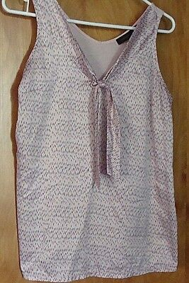 434c78d07bd2e3 Women s THE LIMITED Dressy Tank Top Shirt Blouse Size M Peach Pink Tie  Collar