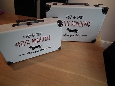 Paris Boutique Chic Suitcase Set La Petite Parisienne New Vintage Look Barn Find