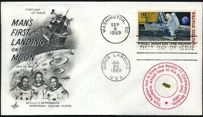 Flown Apollo 11 Kapton Foil on Beautiful First Man on the Moon First Day Cover