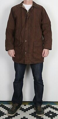 "Country Wax Jacket Coat XL 44"" 46"" Brown (22B)"