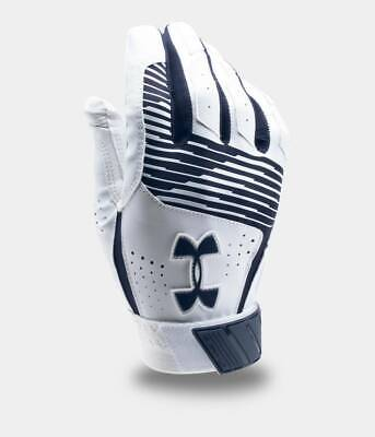 New 2019 Under Armour UA Clean Up Youth Batting Gloves Navy/White Large