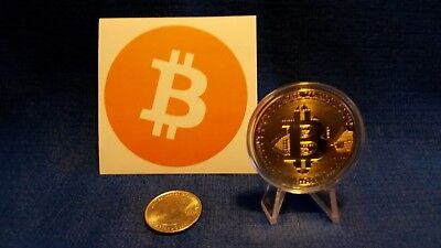 Lot Crypto Currency Bitcoin Commemorative Gold Coin Digital Currency Sticker USA