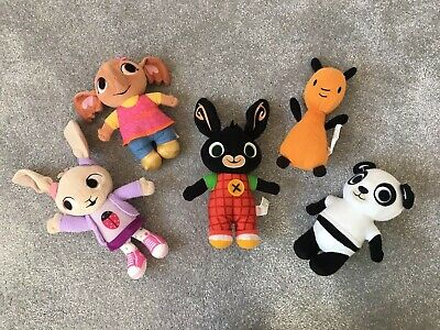 Bing Bunny, Coco, Sula, Flop, Pando Fisher Price Soft Plush Character Set