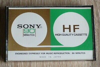 SONY C90-HF Vintage Audio Cassette Tape Normal Position Type I