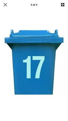 Dust bin stickers 2 X Numbers 7 Inches