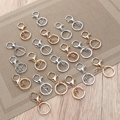 20pcs Keychains Durable Alloy Premium Heavy Duty Metal Keyring for Crafts Charms