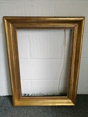 Antique gilded distressed picture frame gold