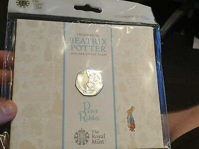 Royal Mint 2017 Beatrix Potter Peter Rabbit 50p Coin Pack BU