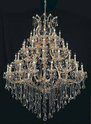49 Light Maria Theresa Golden Teak Crystal Chandelier light Gold 46x62