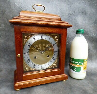 A Good Quality Comitti Of London Mahogany Mantle Clock With Bell Strike,serviced