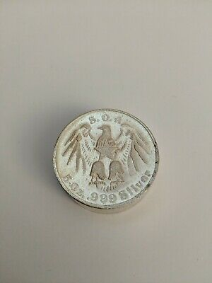 5 Oz Swiss Of America 999 silver chunky rolo round