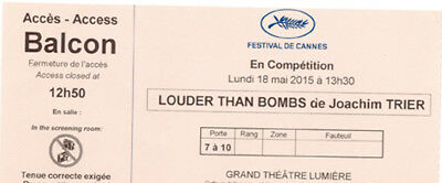 Ticket billet collector LOUDER THAN BOMBS - Joachim Trier Cannes Film Festival