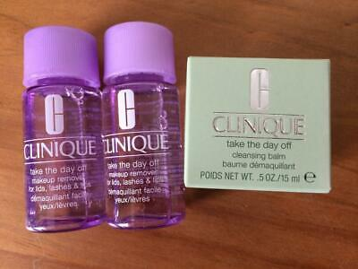 Clinique Take the Day Off Lids, Lips & Lashes 30ml x 2, plus Cleansing Balm 15ml