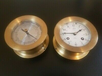Vintage Schatz Compensated Precision Barometer And A Ship's Bell 8 Day 7 Jewels