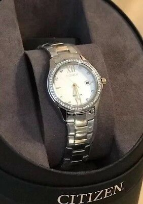 NEW CITIZEN Eco-Drive  Women's  29mm Crystal Accent  Two-Tone  Watch fe1144-85b