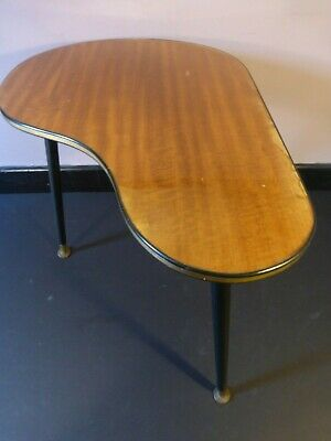 Vintage 1950s 60s Boomerang Kidney shaped Formica coffee table Mid Century Retro