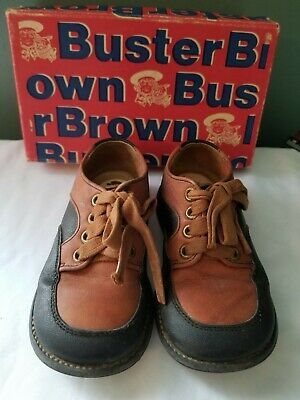 104b211b9aa17 VINTAGE TODDLER LEATHER Buster Brown Shoes Size 5 1/2 EC Original Box