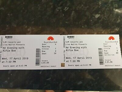 Authentic Alfie Boe Concert tickets Royal Albert Hall 17th April