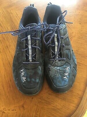 611d7c510dbf Huk Attack Performance Fishing Shoes SZ 11 Mens Outdoor Gear GREY Blue Kryp   85