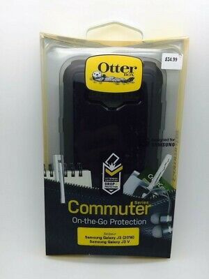 OtterBox Commuter Samsung Galaxy J3 Shockproof Hard Shell Snap Cover Case Black
