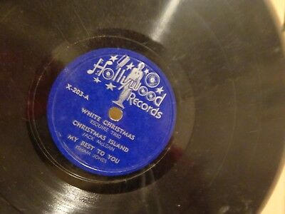 """White Christmas Hollywood Records X-203 The First Noel 78 RPM 10"""" record Music"""