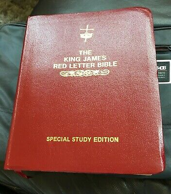 THE KING JAMES RED LETTER BIBLE (Special Study Edition) LARGE PRINT