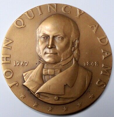 JOHN QUINCY ADAMS Hall of Fame Great Americans Brz Medal 1972 ~ MACO
