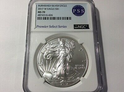 2017-W Burnished Silver American Eagle NGC-MS70