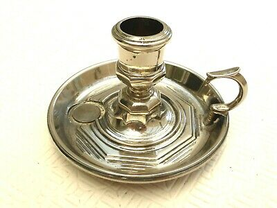 Art Deco Silver Plated Candle Holder With Drip Catcher    1430208/210
