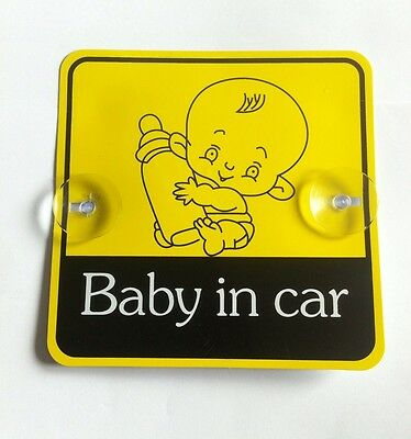 Baby In Car SAFETY WITH SUCTION CUPS CAR VEHICLE SIGNS CHILD SAFETY
