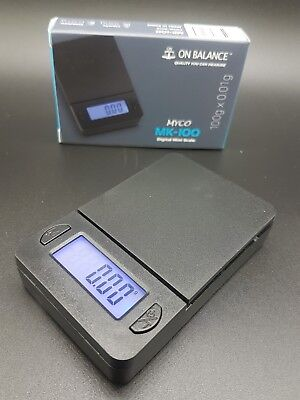 Mini ON BALANCE MYCO MK -100 DIGITAL POCKET 100G X 0.01G SCALE JEWELRY LIGHT