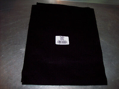 "Black Felt 9"" X 12""  Free S/H Made In Usa"