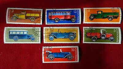 Russian stamps .Russian historic cars. Popular old cars.