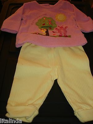 Baby Einstein  2 Pc Set Outfit Pink &Yellow For Girl  3M  Nwt