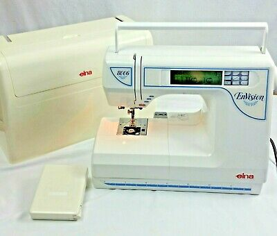 Elna Sewing Embroidery Machine Envision 8006 Foot Pedal Carry Travel Case