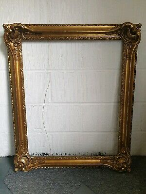 Beautiful antique heavy gold gilded ornate picture frame