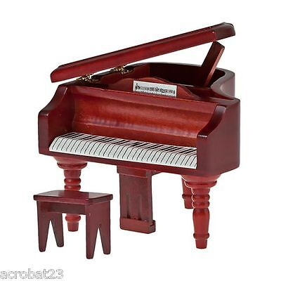 Furniture for Dolls GRAND PIANO Dollhouse Miniature Scale 1:12 Model Kit Set .