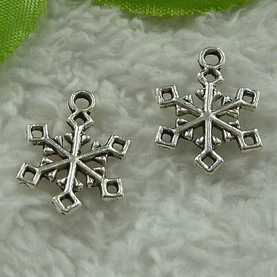 Free Ship 320 pieces tibet silver Floss charms 16x12mm #340